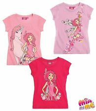 GIRLS OFFICIAL MIA AND ME SHORT SLEEVE T-SHIRT 4 YRS - 12YRS BNWT