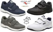 Mens Gola Casual Leather Wide Fit Walking Running Gym Trainers Driving Shoes Siz
