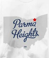 Parma Heights, Ohio OH MAP Souvenir T Shirt All Sizes & Colors