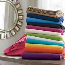 1000 TC Soft 2 PC Pillow Cases/Shams Solid 100% Egyptian Cotton Choose Size