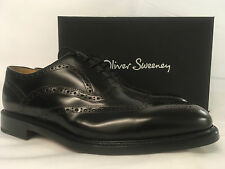 Oliver Sweeney Warburton Dark Brown Leather Lace up Shoes. UK 10.5. RRP £229.