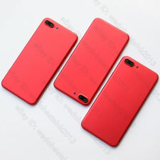 Red Alloy Metal Back Rear Housing Battery Cover Replacement for iPhone 7 / Plus