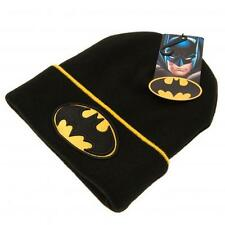Embroidered Knitted Junior Turn up Hats Avengers, Batman, Captain America & WWE