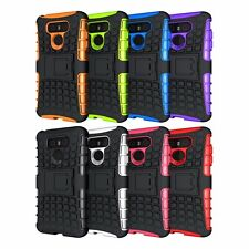 Hybrid Shockproof Armor Grip Rugged TPU Hard Stand Case Cover For LG Cellphone