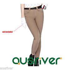 Ladies Jodhpurs Breeches Riders Clothing Horse Riding Pants Knee Patch Suede