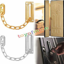 Home Chrome Chain Door Guard Latch Security Lock Cabinet Latches Slide Bolt New