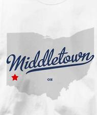 Middletown, Butler County, Ohio OH MAP Souvenir T Shirt All Sizes & Colors