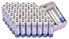 50x AA 3000mAh 1.2V Ni-MH rechargeable battery BTY for MP3 RC Toy Camera+Charger