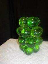 VINTAGE RETRO GREEN LUCITE GRAPE cluster bunch table  LAMP BASE