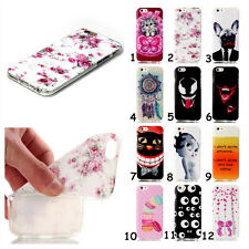 New Cartoon Style Soft TPU Gel Case Cover Skin For iPhone Asus Alcatel LG Huawei