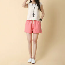 Lady Casual Linen Shorts Summer Beach Wear Casual Plus Size Short Hot Pants Soft