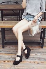 Microfiber lining. Slope heel. Round head. Cow leather. Casual fashion shoes