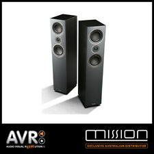 Mission LX-3 Floor Standing Speakers Various Colours (BLACK) (WHITE) (WALNUT)