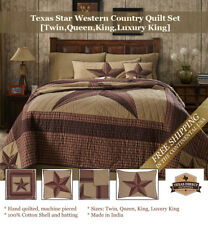 Texas Star Western Country Quilt Set Brown/Tan (Twin, Queen, King, Luxury King)