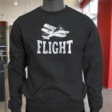 FLIGHT AIRPLANE AVIATION FLY PILOT FLYING TRAVEL Mens Charcoal Sweatshirt