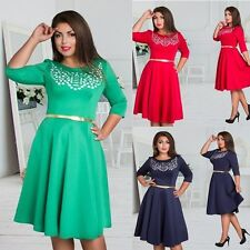 Plus Size Dress Women Casual Long Sleeve Women's Clothing Winter Dress L- 6XL ca