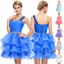 One Shoulder Short Mini Evening Ball Party Prom Bridesmaid Gown Homecoming Dress