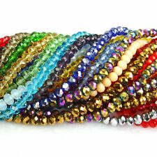 various sizes 100Pcs Czech crystal faceted rondelle spacer beads jewelry design