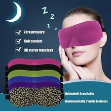 Soft Eye Mask Shade Ecellent Nap Cover Blindfold Sleeping Travel Rest BE