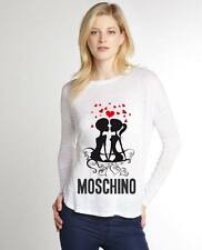 White Women Top Blouse New Modern Sexy T-shirt In Love Moschino