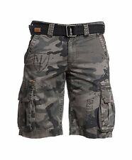 AFFLICTION Men's110WS130 The Great General Camo Vintage Cargo Shorts Belt