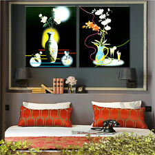 Canvas Painting Flower Vase Cuadros for Living Room Home Decor Unframed 2PC