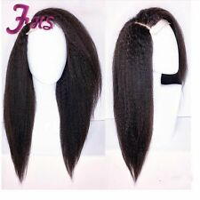 100% Brazilian Human Hair Wig Kinky Straight Lace Front Wig /Full Lace Wig
