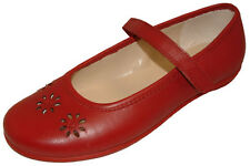 NEW CLARKS DAISY BLUSH Girls Red Leather Riptape Shoes 13 - 3 F G Fit BNIB
