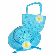 Girls Easter Straw Hat & Purse Set Daisy Dress Up Tea Party Kid's Cute Gift