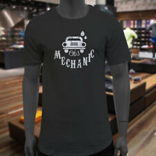 VINTAGE MECHANIC CARS REPAIR TOOLS TRUCKS AUTO Mens Black Extended Long T-Shirt