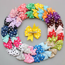 50pcs Baby Toddler Girls Hair Clips Ribbon Bow Kids Bowknot Headband Accessory