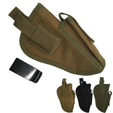 Waterproof Military Tactical Outdoor Hand Gun Pistol Holster *W/ Mag Slot Holder