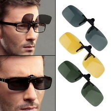 Driving Night Vision Clip-on Flip-up Lens Sunglasses Glasses Cool Eyewear BE