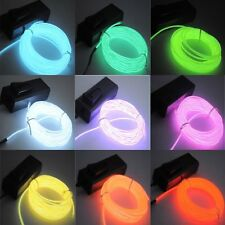 1-5M Flash Flexible Neon LED Light Glow EL Strip Tube Wire Rope Car Party LigBE