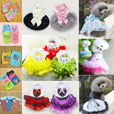 Hot Various Pet Puppy Small Dog Cat Pet Clothes Vest T Shirt Apparel Gift Dress