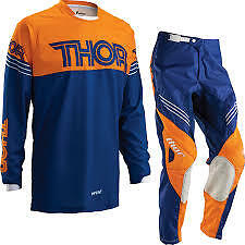 Thor phase motocross enduro combo kit 2016 hyperion navy orange big savings