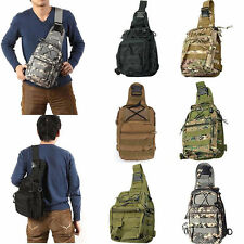Outdoor Military Tactical Backpack Camping Travel Hiking Trekking Shoulder BBE