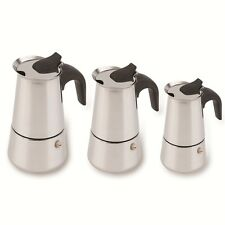 2/4/6-Cup Percolator Stove Top Coffee Maker Moka Espresso Latte Stainless Pot BG
