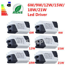 New Dimmable LED Light Lamp Driver Transformer Power Supply 6/9/12/15/18/21W BE