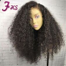 Unprocessed Human Hair Full Lace Wig Curly Lace Front Wig With Baby Hair