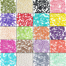 4mm-14mm multi color opaque Czech glass pearl spacer beads jewelry DIY wholesale