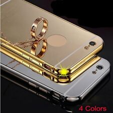 Mirror Effect Metal Plating Case For Iphone Metal Frame Protection Back Cover BE