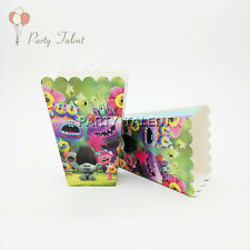 Trolls Theme Birthday Party Decoration Popcorn Box for Kids Party Supplies