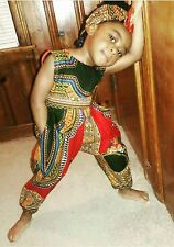 AFRICAN ANKARA DASHIKI AFRICAN CLOTHING GIRLS SUMMER JUMPSUIT ROMPER