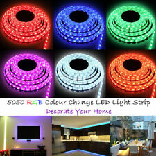 5M 5050/3528 300 SMD LED Strip Light Outdoor Flexible Waterproof 12V 5A Adaptor