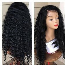 100% Human Hair Lace Front Wig Unprocessed Full Lace Curly Wigs Free Part
