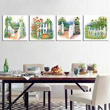 Canvas Painting Art Fence Wall Picture Home Decor  for Living Room 4PC No Frame