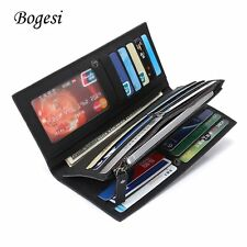 826 Men Long Wallet Money Card Coin Holder Large Capacity Zipper and Hasp BE