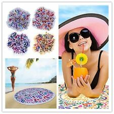 Fashion Swimming Round Beach Towel Printed Bath Towel For Adults Circle Shawl BE