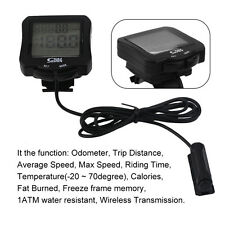 Universal Bike Bicycle Wireless Computer Waterproof Speedometer With BacklightBE